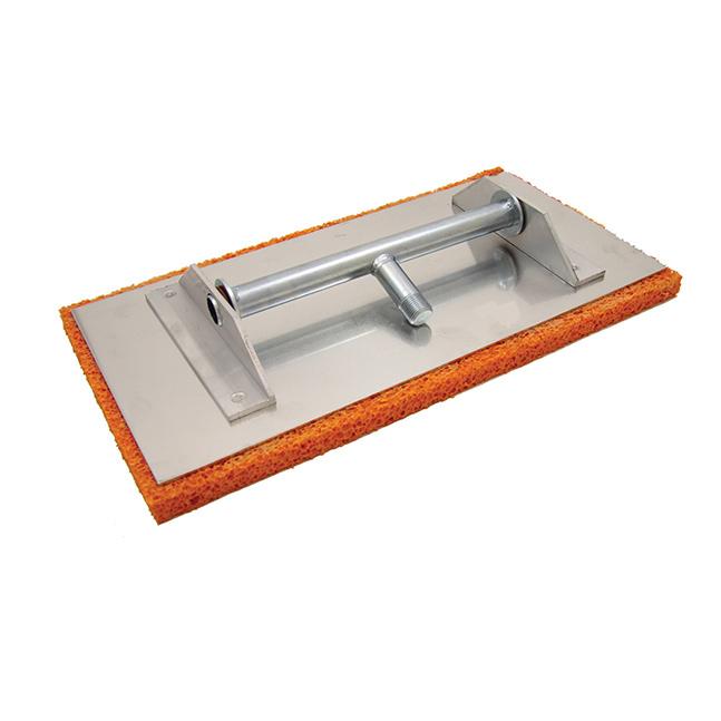 Тёрка с губкой на алюминиевой основе